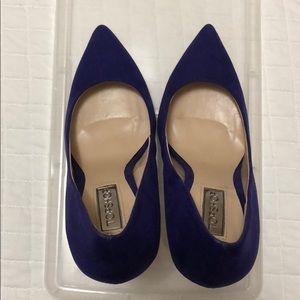 Topshop Court Heel, Faux Purple Suede Size 6 (36)